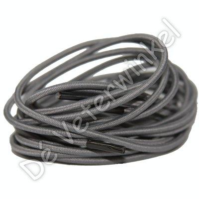 FILLING PIECES Rond elastiek 3mm Grijs-/Zwart