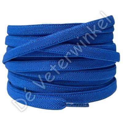 Plat ELASTIEK 7mm Koningsblauw SPECIALE LENGTE
