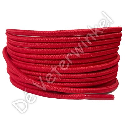 Rond 3mm ELASTIEK Rood SPECIALE LENGTE