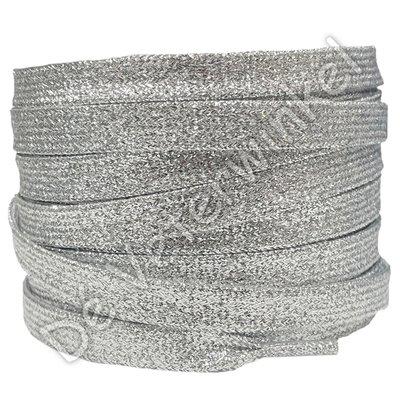 Plat shiny 10mm Zilver SPECIALE LENGTE