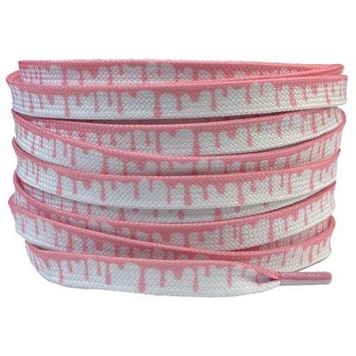 Verfdruppels 8mm Wit/Roze SPECIALE LENGTE