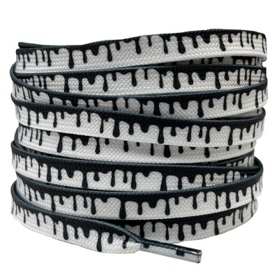 Verfdruppels 8mm Wit/Zwart SPECIALE LENGTE