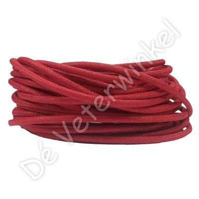 Rond 2mm wax Rood SPECIALE LENGTE