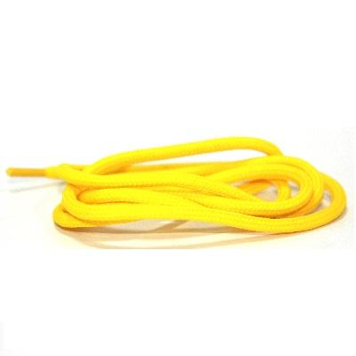 Ronde veter polyester Geel 180CM
