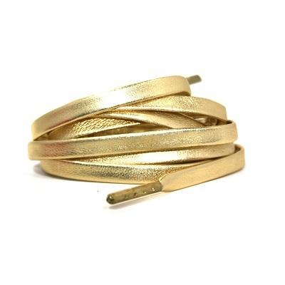 Luxe leren veters goud