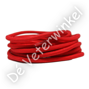 Rond 5mm polyester Rood SPECIALE LENGTE