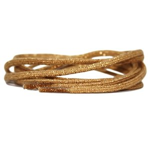 Cordlaces cotton Gold Thread 120CM
